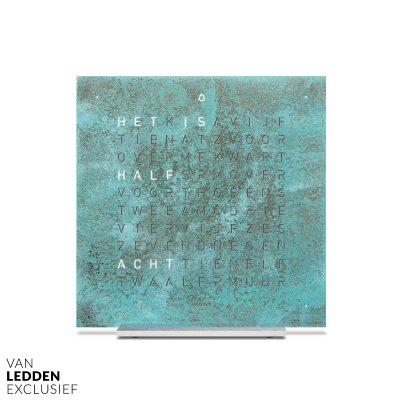 qlocktwo touch woordklok wekker creators edition koper vintage copper van ledden exclusief
